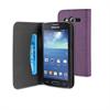 Funda Wallet Folio Lila Función Soporte y Tarjetero Samsung Galaxy Core 2 Muvit