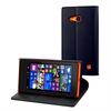 Muvit Funda Wallet Folio con Función Soporte Negra Nokia Lumia 730/735 muvit