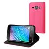 Muvit Funda Wallet Folio Rosa Función Soporte Samsung Galaxy J1 muvit
