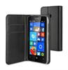 Muvit Funda Wallet Folio Negra Funición Soporte Microsoft Lumia 435 muvit