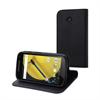 Muvit Funda Wallet Folio Negra Función Soporte y Tarjetero Motorola Moto E 4G muvit