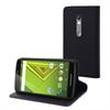 Muvit Funda Wallet Folio Negra Función Soporte y Tarjetero Motorola Moto X Play muvit