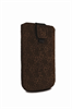 Premmium Funda piel marrón XL pop-up relieve pull-up Premium