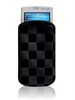 Puro Funda Nabuk Cuadros Negra Apple iPhone 4 3GS 3G Touch 8520 9300