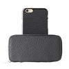 Funda Piel Cremallera + Carcasa Piel Apple iPhone 6 Puro Business