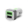Mini Cargador de Coche Blanco 2,4 Amp 2 Puertos USB Puro