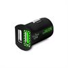 Mini Cargador de Coche Negro 2,4 Amp 2 Puertos USB Fast Charger Puro