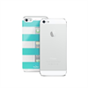 Carcasa Stripe Azul/Plata Apple iPhone 5 Puro