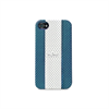 Puro Funda Cover Golf Azul Cielo/Blanco Eco-Piel Apple iPhone 4/4S