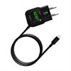 Puro Mini Transformador Rápido Negro 2.1 Amp Apple Lightning MFI