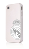Funda TPU Blanca Plata Apple iPhone 4/4S Real Madrid