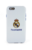Funda TPU Blanca Escudo Color Apple iPhone 6 Real Madrid