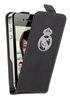 Funda Slim Negra Escudo Relieve Metalizado Apple iPhone 4/4S Real Madrid