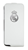 Funda Slim Blanca Escudo Relieve Metalizado Apple iPhone 4/4S Real Madrid