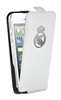 Funda Slim Blanca Escudo Relieve Metalizado Apple iPhone 5 Real Madrid