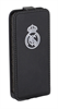 Funda Slim Negra Escudo Relieve Metalizado Apple iPhone 5C Real Madrid