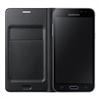 Funda Flip Wallet Negra con Tarjetero Samsung Galaxy J3 Samsung