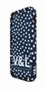 V&l Funda bumper Corazones Azules + sticker + protector pantalla antihuellas Apple iPhone 5 Victorio y L