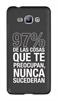 Funda Minigel Negra Tacto Goma 97% Samsung Galaxy J1 Words