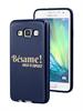 Funda Minigel Fucsia Tacto Goma Bésame Samsung Galaxy A3 Words