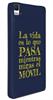 Funda Minigel Tacto Goma Azul La Vida BQ Aquaris M5 Words