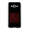 Funda TPU Tacto Goma Negro Pecado Samsung Galaxy J5 Words