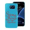 Funda TPU Tacto Goma Azul Some Things Samsung Galaxy S7 Words