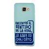 Funda TPU Tacto Goma Azul Sentido Samsung Galaxy A5 2016 Words