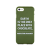 Funda TPU Tacto Goma Save The Planet Apple iPhone 7/6/6S Words