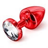 Diogol - Butt Plug Anni redondo rojo 35 mm
