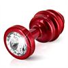 Diogol - Ano enchufe del extremo acanalado rojo 35 mm