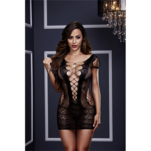 Baci Lingerie - Baci - mini vestido del corsé del frente del cordón de O / S
