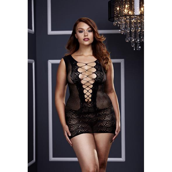 Baci Lingerie - Baci - Ultra corsé ata para arriba el mini vestido de corte Q