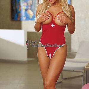Dream Girl Disfraz Enfermera Rojo (Diamond 4236)