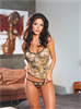 Dream Girl Conjunto Sexy Militar, Incluye Microtanga