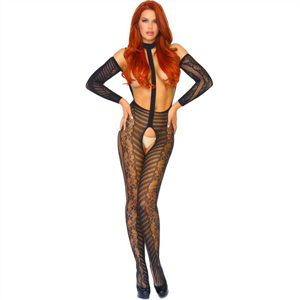 Leg Avenue Bodystocking De Encajes  T.U.