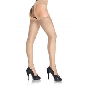 Leg Avenue Medias Con Liguero Adjunto Nude
