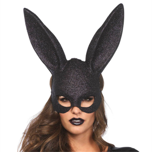 Leg Avenue Legavenue Rabbit Mascara Con Purpurina