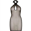 Leg Avenue - Leg Avenue Lurex Twist Halter Mini Dress - One Size