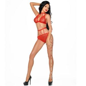 Me-seduce Dotty Set Dos Piezas Rojo S/M