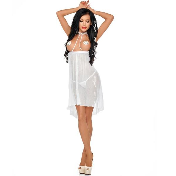 Me-seduce - Me-seduce Lucy Chemise Blanco S/M