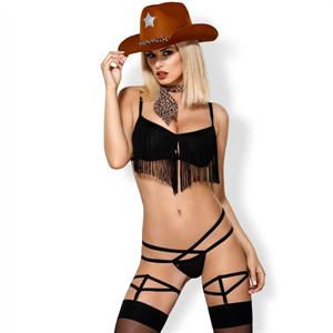 Obsessive - 832-cst-1 Disfraz Cheriff Cowgirl Sexy  S/M