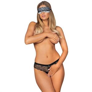 Obsessive - Firella Set Antifaz Y Panties Con Abertura S/M