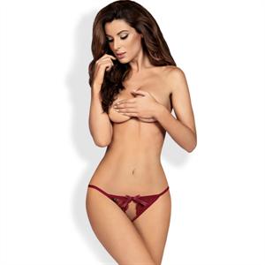 Obsessive - Miamor Panties Con Abertura Rubí L/Xl