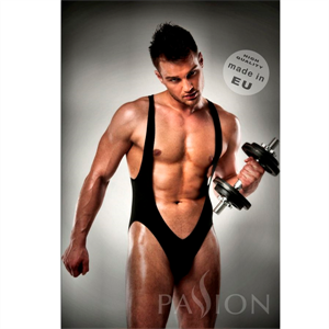 Passion Men Body 011 Jockstrap Black Men Lingerie By Passion Xxl/Xxxl