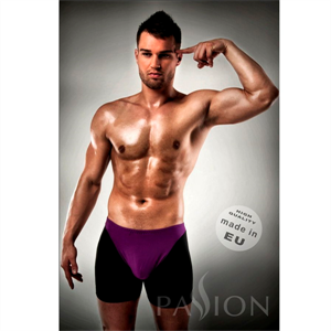 Passion Men Boxer 009 Lila/ Negro Erotic Passion Lingerie Xxl/Xxxl