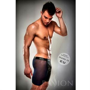 Passion Men Boxer Negro 026 Transparente Largo Leather S/M
