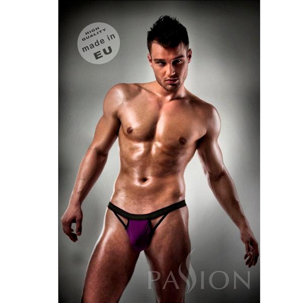 Passion Men - Slip 006 Men Purple Clear Lingerie S/M