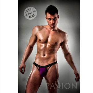 Passion Men Slip 006 Men Purple Clear Lingerie S/M