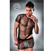 Passion Men T-shirt + Underwear 017 Negro Transparente By Passion S/M